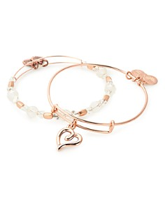 Alex and Ani - Handwritten Heart Expandable Bracelets, Set of 2